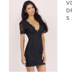 Lace bodycon dress with lace sleeve - never worn